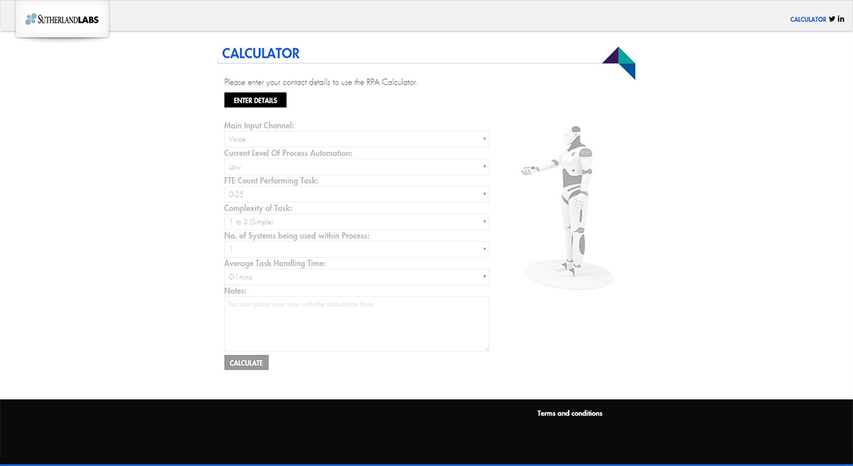 Sutherland Labs business logic integration for their RPA calculator. additional image 2